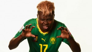 Cameroon's Gaelle Enganamouit and her lovely locks.