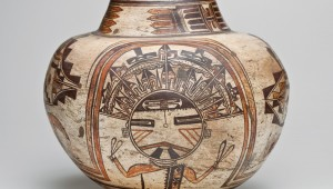 This water jar from Hano Village on the Arizona Hopi reservation is part of the Amon Carter's new show.