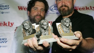 Holy Moly with their awards. Photo by Lee Chastain.
