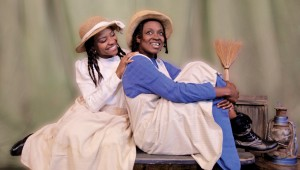 Kristen Bond and Ebony Marshall-Oliver star in The Color Purple at Jubilee Theatre.