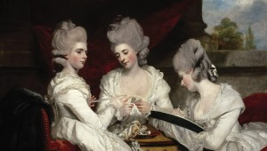 "Sir Joshua Reynolds' ravishing ""The Ladies Waldegrave"" is part of  Botticelli to Braque at the Kimbell. Courtesy National Galleries of Scotland"