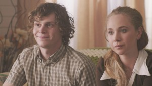 Evan Peters and Juno Temple have a fraught encounter at a nice home in Safelight.