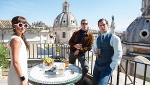 Alicia Vikander, Armie Hammer, and Henry Cavill enjoy a sunny afternoon in Rome in The Man From U.N.C.L.E.