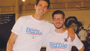 Jeffcoat (left) and Allred had no background in politics before co-founding Fort Worth for Bernie Sanders.