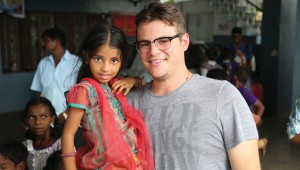 Josh Weathers visits an orphanage in Vizag, India. Courtesy Josh Weathers.