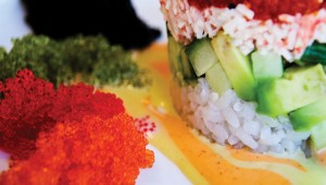 This California roll is one of the sushi entrées at Pan Asia Cuisine. Photo by Jordan Ricaurte.