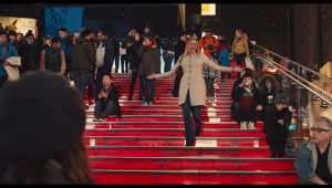 Greta Gerwig makes a grand, sweeping Times Square entrance in Mistress America.
