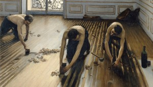 """The Floor Scrapers"" is part of the Kimbell's Gustave Caillebotte: The Painter's Eye."