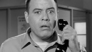 FRANK SUTTON AS SGT. CARTER ON THE GOMER PYLE SHOW.