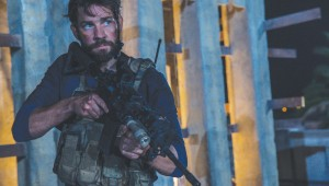 John Krasinski stars in 13 Hours, premiering Tue at AT&T Stadium.