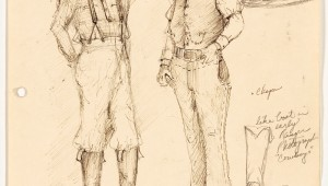 Van Broughton Ramsey's costume drawings are part of Sid Richardson Museum's Lonesome Dove: The Art of Story.