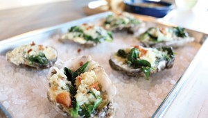 The Dive's Roc-A-Fella oysters were sweet and tender. Photo by Kayla Stigall.