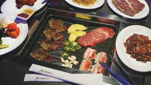 If you overcook your own food at Jin Korean BBQ, you can always go back for more. Photo by Lee Chastain.