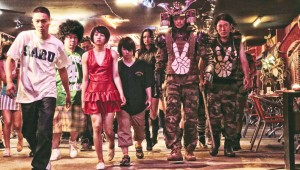 Young Dais (left) leads different street gangs against a common enemy in Tokyo Tribe.