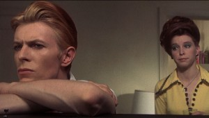 DAVID BOWIE AND CANDY CLARK IN THE MAN WHO FELL TO EARTH. (Photos courtesy Paramount Pictures)