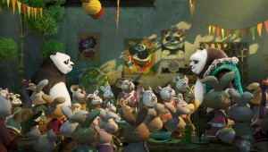 "A panda and his long-lost dad meet in a noodle shop in ""Kung Fu Panda 3."""