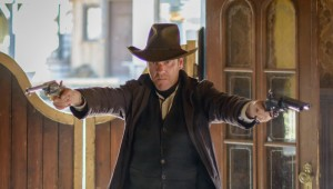 Kiefer Sutherland makes an entrance in Forsaken.