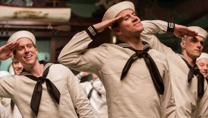 "Channing Tatum and fellow sailors dance in ""Hail, Caesar!"""