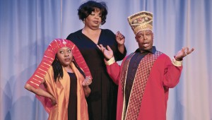 Nikka Morton, Gina Monday, and Steven Griffen get Biblical in Jubilee Theatre's God's Trombones.