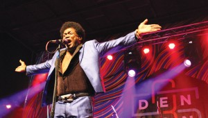 Singer Charles Bradley drew the biggest crowd on 35 Denton's second day. Photo by Jeremy Hallock.