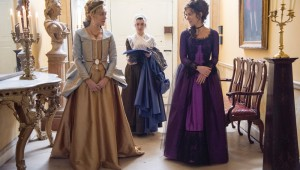 Chloë Sevigny and Kate Beckinsale (foreground) scheme to make a good match in Love & Friendship.