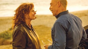 Susan Sarandon and J.K. Simmons have a romantic moment on a West Coast beach in The Meddler.