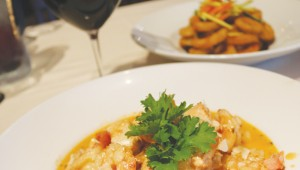All of the seafood sang on the Spanish seafood pasta. Photo by Kayla Stigall.