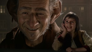 "Mark Rylance and Ruby Barnhill make an unlikely pair of friends in ""The BFG."""