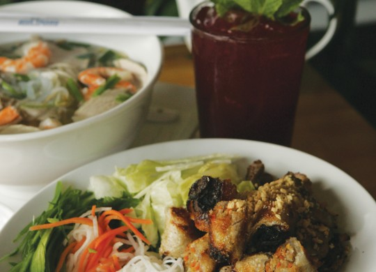 Nha Trang's Bun Thit Nuong Cha Gio was on point. Photo by Lee Chastain.