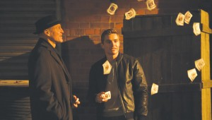 A card trick goes awry for Woody Harrelson and Dave Franco in Now You See Me 2.