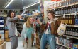 Mila Kunis, Kristen Bell, and Kathryn Hahn go drunken grocery shopping in Bad Moms.