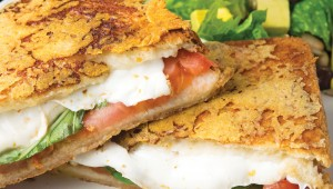 The Caprese grilled cheese oozed with mozzarella. Photo by Nancy Farrar.