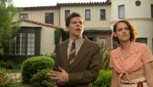 "Jesse Eisenberg and Kristen Stewart check out Hollywood's stateliest homes in ""Cafe Society."""