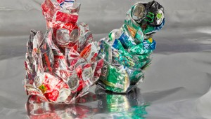 "Marilyn Waligore's ""Aluminum RG#1"" won the top prize: $1,000 and an opportunity to participate in a solo or group exhibition in Artspace's 2016-17 season."