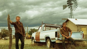 Ben Foster and Chris Pine contemplate the land they're prepared to kill for in Hell or High Water.