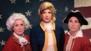 This isn't Hamilton, but Lisa Fairchild, Liz J. Millea, and Lauren Ferebee starring in Circle Theatre's The Taming.