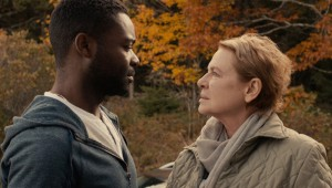 David Oyelowo and Dianne Wiest try to reach an understanding during Five Nights in Maine.
