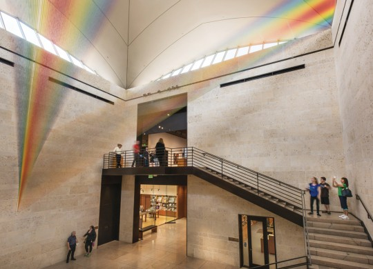 Gabriel Dawe's Plexus No. 34 greets visitors to the Amon Carter Museum through 2018. Photo courtesy of The Amon Carter Museum.