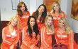 Hooters girls attended a hearing in Fort Worth this week. Photo by Jeff Prince.