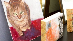 FORMER PRESIDENT GEORGE W. BUSH PAINTS PUDDY TATS NOW.