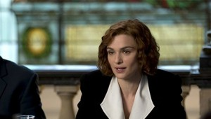 Rachel Weisz stars as Deborah Lipstadt, the American professor of history who was sued for libel by British Holocaust denier David Irving (Timothy Spall) in Denial.