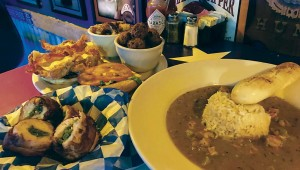 Pantego Bay's etouffee was swimming with perfectly cooked crawfish. Photo by Lisa Warner.