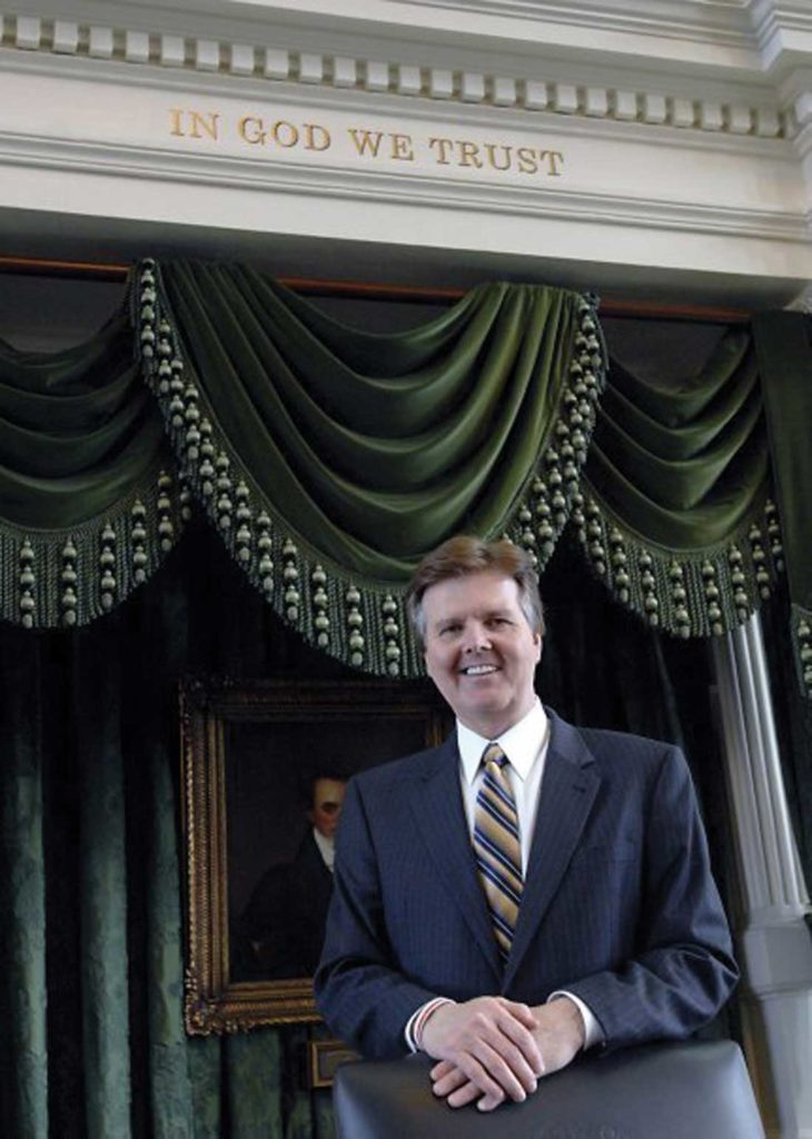 Lt. Gov. Dan Patrick without his cellphone. Courtesy of Facebook