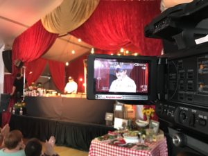 Chef Cris Vazquez at the Stock Show Cooking Nolan Ryan Beef