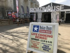 Nolan Ryan Beef sign at Coors Light Roadhouse