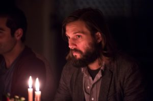 "A candlelit dinner isn't romantic for Logan Marshall-Green in ""The Invitation."""