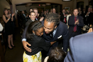 Larry Fitzgerald and Katelyn Gordon