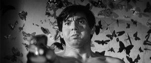 """Jô Shishido is haunted by butterflies in """"Branded to Kill."""""""