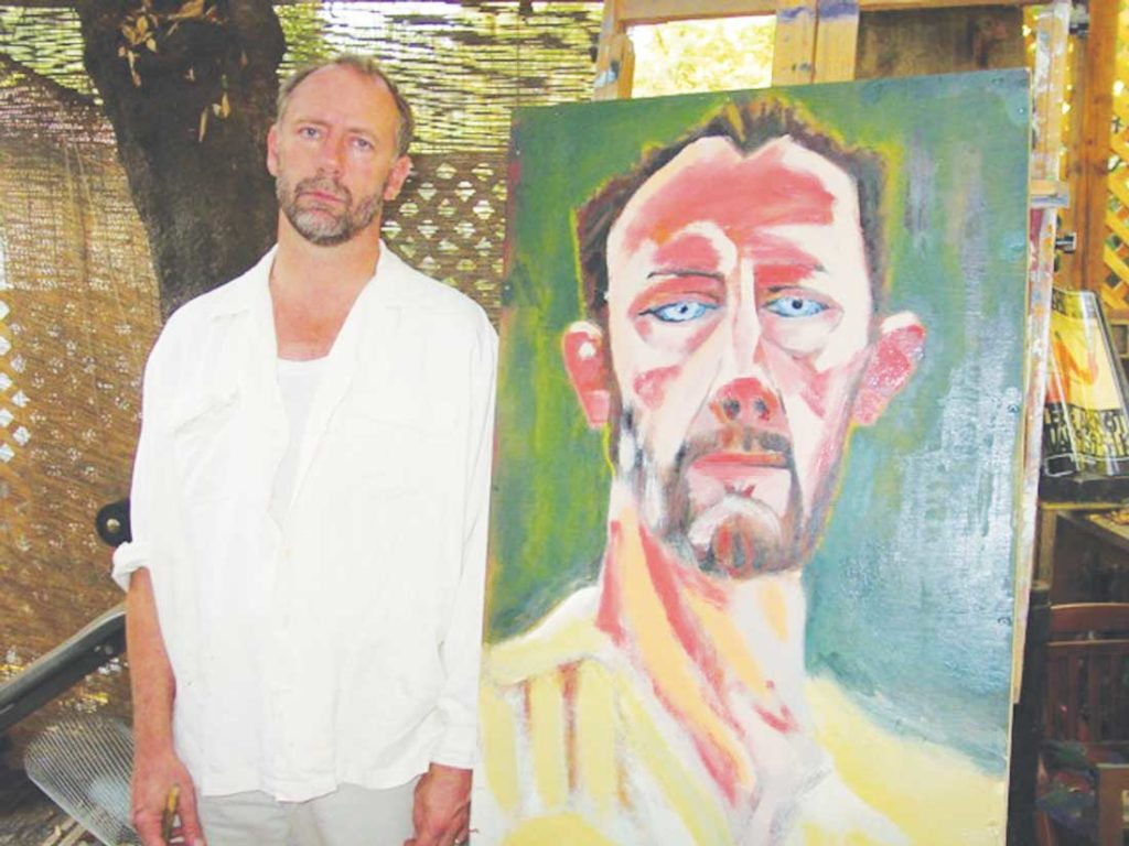 Xander Berkeley enjoys painting and sculpting along with acting in blockbusters and indies. Photo courtesy of Tom Huckabee.