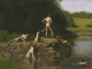 Thomas Eakins Swimming, 1885 Photo courtesy of the Amon Carter Museum of American Art.
